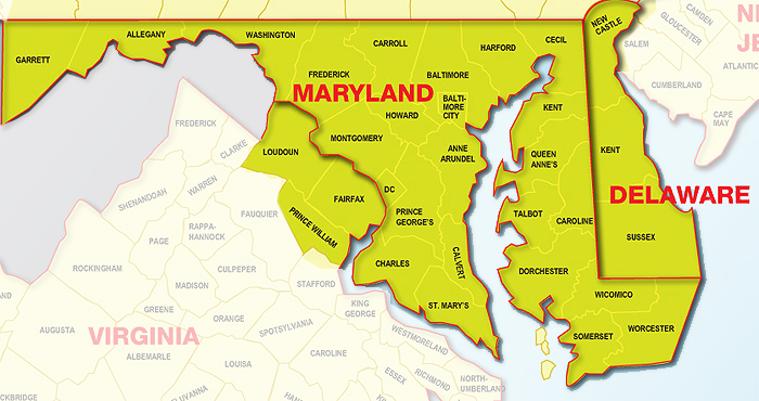 Northern Virginia Maryland Map